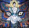 Pray 1987 50x48 Original Painting by Jiang Li - 4