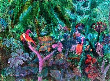 Jungle 1972 17x21 Original Painting by Gustav Likan