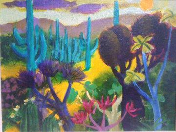 Desert Scene 20x24 Original Painting - Gustav Likan