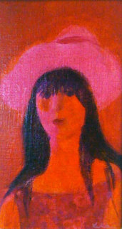 That Girl 14x10 Original Painting by Gustav Likan