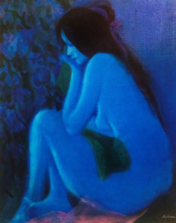 Blue Nude 40x34 Original Painting by Gustav Likan