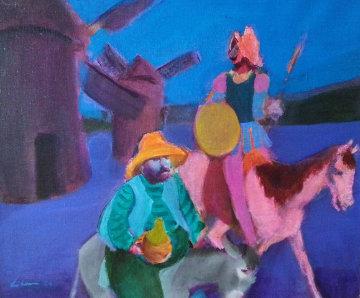 Don Quixote 1980 27x31 Original Painting - Gustav Likan