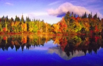 Fall Reflections Panorama by Peter Lik