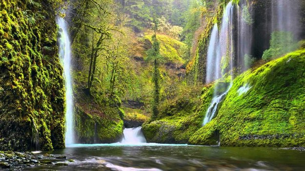 Whispering Falls  Panorama by Peter Lik