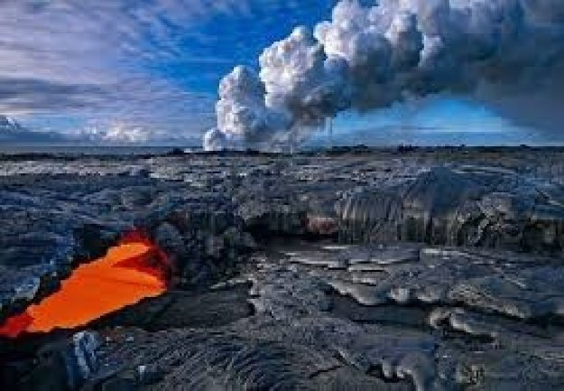 Evolution - Kiulu Uea, Kilauea Volcano Panorama by Peter Lik