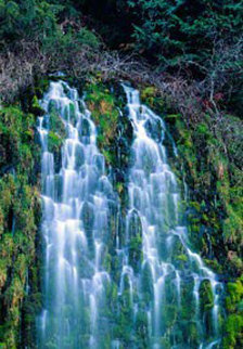 Sierra Cascades (Mossbrae Falls, California) Panorama by Peter Lik
