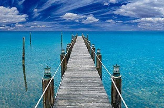Tranquil Blue (Florida Keys) Panorama by Peter Lik