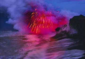 Revelation, Kilauea, the Big Island, Hawaii (Volcano) 2010 Panorama - Peter Lik