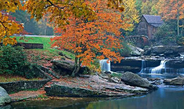 Nature's Mill Panorama by Peter Lik