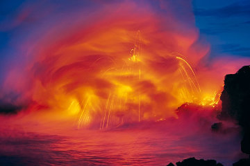 Ocean Fire Panorama by Peter Lik