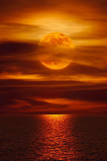 Moonlight Reflections (La Jolla, Ca) Panorama - Peter Lik