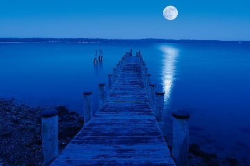 Moon Over Montauk Panorama - Peter Lik