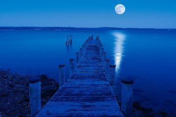 Moon Over Montauk Panorama by Peter Lik