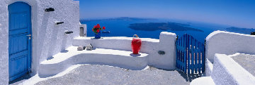 Santorini Terrace Limited Edition Print by Peter Lik