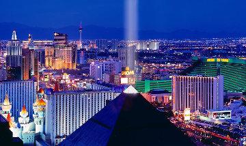 Desert Lights 1.5M Huge!  Las Vegas Panorama - Peter Lik