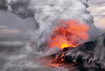 Pele's Whisper With 25th Anniversary Book Panorama by Peter Lik