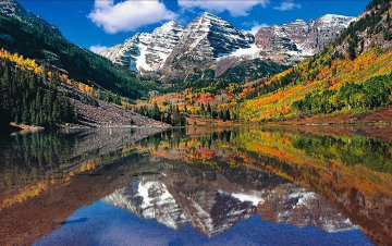 Maroon Bells Panorama by Peter Lik
