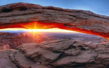 Sacred Sunrise Panorama by Peter Lik