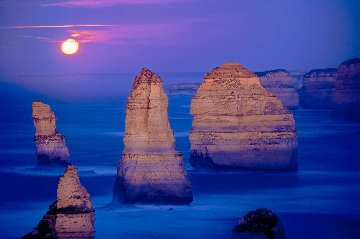 12 Apostles Moonglow Panorama by Peter Lik