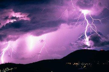 Midnight Storm Panorama - Peter Lik
