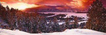 Mountain Glow Panorama by Peter Lik