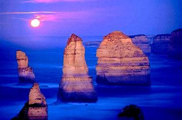 12 Apostles Moonglow Panorama by Peter Lik