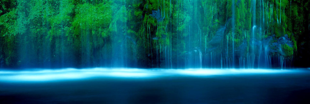 Tranquility, Mossbrae Falls California AP Panorama by Peter Lik