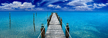 Tranquil Blue  Panorama by Peter Lik