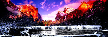Icy Waters Panorama by Peter Lik