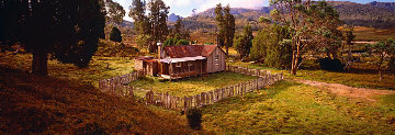 Cradle Mountain Hut  20.37 x 59.5 Panorama - Peter Lik