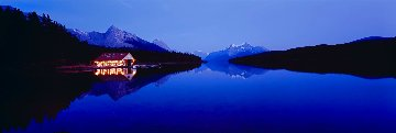 Maligne Dusk Panorama - Peter Lik