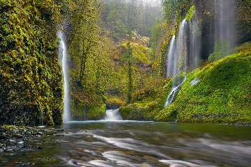 Whispering Falls 1.5M Super Huge Panorama - Peter Lik