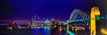 Sydney Australia Skyscape Panorama by Peter Lik