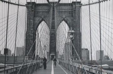Manhattan Crossing, New York Brooklyn Bridge Panorama by Peter Lik