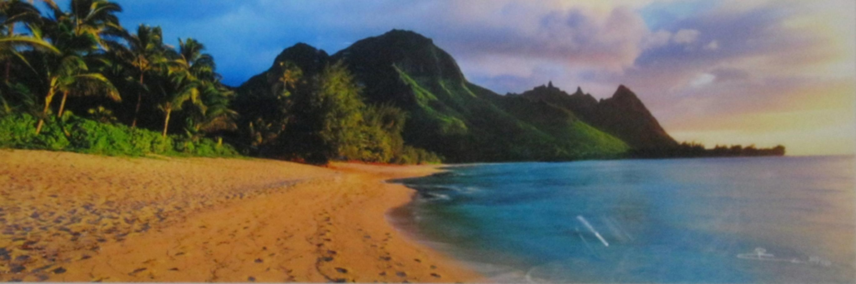 Seventh Heaven (Na Pali Coast, Kauai, Hawaii) Panorama by Peter Lik