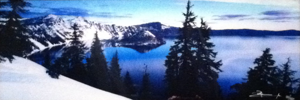 Deep Blue (Crater Lake National Park, Oregon) Panorama by Peter Lik