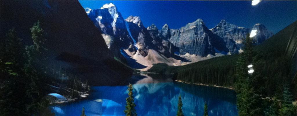 Lake Moraine (Rocky Mountains, Canada) Panorama by Peter Lik