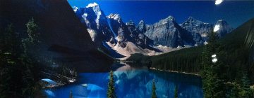 Lake Moraine (Rocky Mountains, Canada) Panorama by Peter Lik