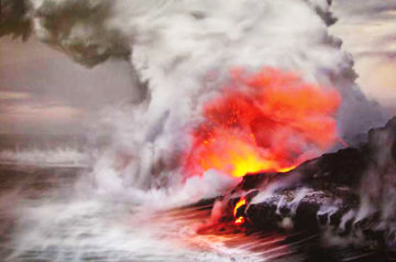 Pele's Whisper 1 Meter (Kilauea, The Big Island Hawaii) Panorama by Peter Lik