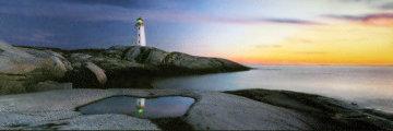 Atlantic Reflections (Peggy's Cove, Nova Scotia) Panorama by Peter Lik