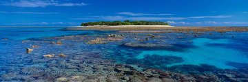 Coral Island  (small ed 100) (Lady Musgrave Island, Great Barrier Reef Panorama by Peter Lik