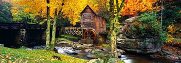 Babcock Mill (Babcock State Park, West Virginia) Panorama - Peter Lik