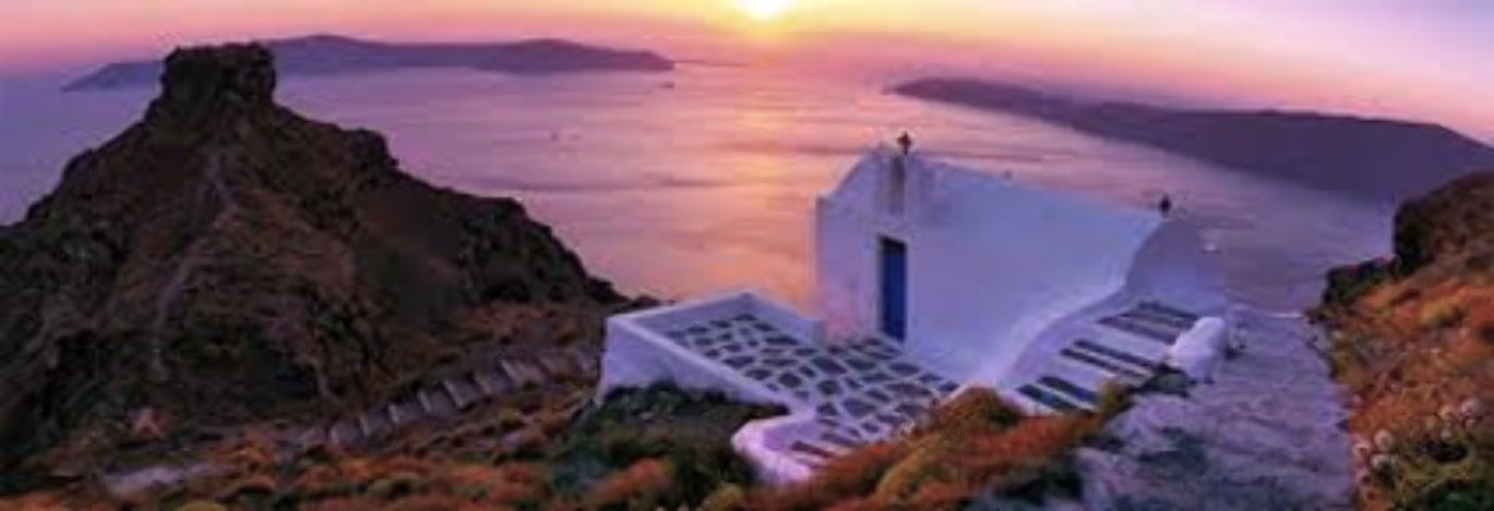 Romantica (Santorini, Greece) Panorama by Peter Lik