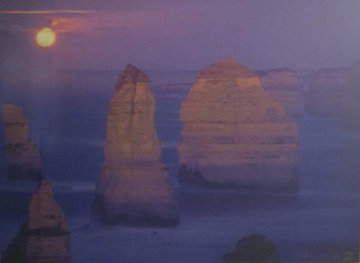 12 Apostles Moonglow  (Marine NP, Victoria)  Panorama by Peter Lik