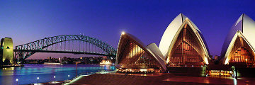 Sydney Australia At Night (Small Edition) Panorama by Peter Lik