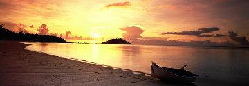 Rowboat Sunset  Panorama by Peter Lik
