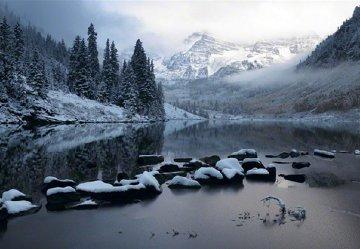 Snow Mass Silence, Colorado Super Huge Epic Panorama - Peter Lik