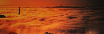 Lost City  San Francisco (Golden Gate Bridge in the Mist) Panorama by Peter Lik