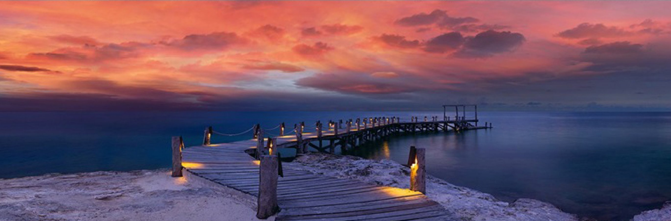 Enchanted Jetty 1.5M Huge Panorama by Peter Lik