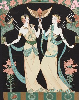 Twin Princesses (Gemini) AP  Limited Edition Print by Lillian Shao